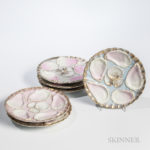 Set of Twelve German Porcelain Oyster Plates (Lot 1038, Estimate: $300-500)