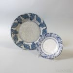 Dedham Pottery Turkey Saucer and Grape Plate (Lot 1203, Estimate: $150-250)