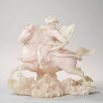 Carved Pink Alabaster Figure of a Man on Horseback (Lot 1308, Estimate: $400-600)