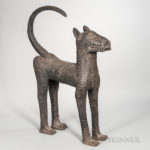 Large Benin-style Bronze Leopard (Lot 1552, Estimate: $20-200)