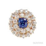 Kashmir Sapphire and Diamond Ring (Lot 127, Estimate: 15,000-20,000)