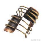 "Copper and Brass ""Modern Cuff"" Bracelet, Art Smith (Lot 220, Estimate: $8,000-12,000)"