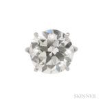 Diamond Solitaire, c. 1950s, 13.26 cts. (Lot 386, Estimate: $100,000-150,000)