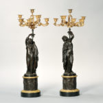 Pair of Empire Gilt-bronze Ten-light Candelabra (Lot 1448, Estimate: $4,000-6,000)