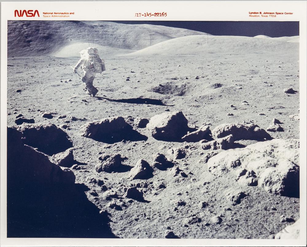 Apollo 17, Lunar Landscape, Panoramic View, Twelve Photographs (Lot 2253, Estimate $2,500-3,500)