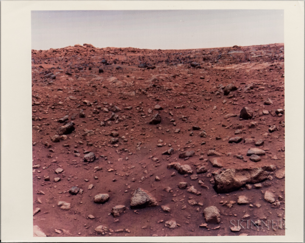 Viking 1, Mars, First Color Photograph Taken on the Surface, July 21, 1976 (Lot 2275, Estimate $800-1,200)
