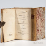 Austen, Jane (1775-1817) Pride and Prejudice. London: Egerton [printed by C. Roworth], 1817 (Lot 1086, Estimate $2,500-3,500)