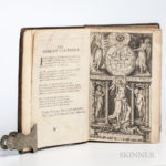 Raleigh, Sir Walter (1552-1618) The History of the World (Lot 1252, Estimate $1,000-1,500)