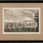 South View of the Several Halls of Harvard College (Lot 1338, Estimate $2,000-3,000)