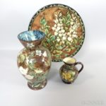 Three Doulton Lambeth Ceramic Faience Items (Lot 2213, Estimate: $400-600)