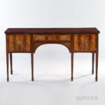 Georgian-style Mahogany and Mahogany Veneer Serpentine-front Sideboard (Lot 2316, Estimate: $300-500)