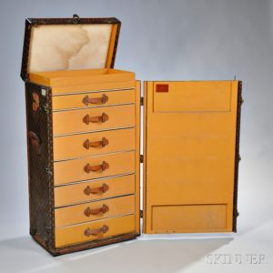 Louis Vuitton Upright Wardrobe Trunk, sold for: $9,840