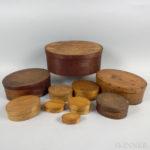 Ten Finger Lapped-seam Pantry Boxes (Lot 182, Estimate $200-300)