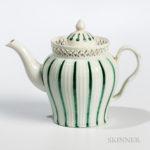 Leeds Creamware Ceramic Teapot (Lot 202, Estimate $300-400)