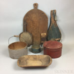 Small Group of Wooden Kitchen Items (Lot 366, Estimate $200-400)