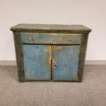Blue-painted Pine Floor Cupboard (Lot 78, Estimate $300-500)