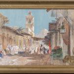 Walter Francis Brown (American/Italian, 1853-1929) Middle Eastern Market Scene (Lot 1120, Estimate: $400-600)