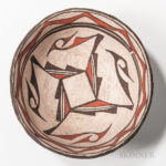 Polychrome Pottery Dough Bowl (Lot 1246, Estimate: $200-300)