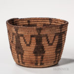 Southwest Coiled Effigy Basket (Lot 1274, Estimate: $300-500)