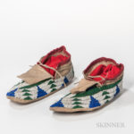 Central Plains Beaded Hide Moccasins (Lot 1210, Estimate: $800-1,200)