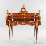 Maison Millet Ormolu-mounted Kingwood and Satinwood Parquetry Bureau (Lot 459, Estimate $15,000-25,000)