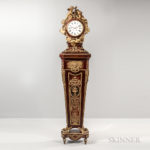 Louis XIV-style Ormolu-mounted Amaranth and Tulipwood-veneered Long Case Clock by E. Kahn & Cie. (Lot 466, Estimate $10,000-15,000)