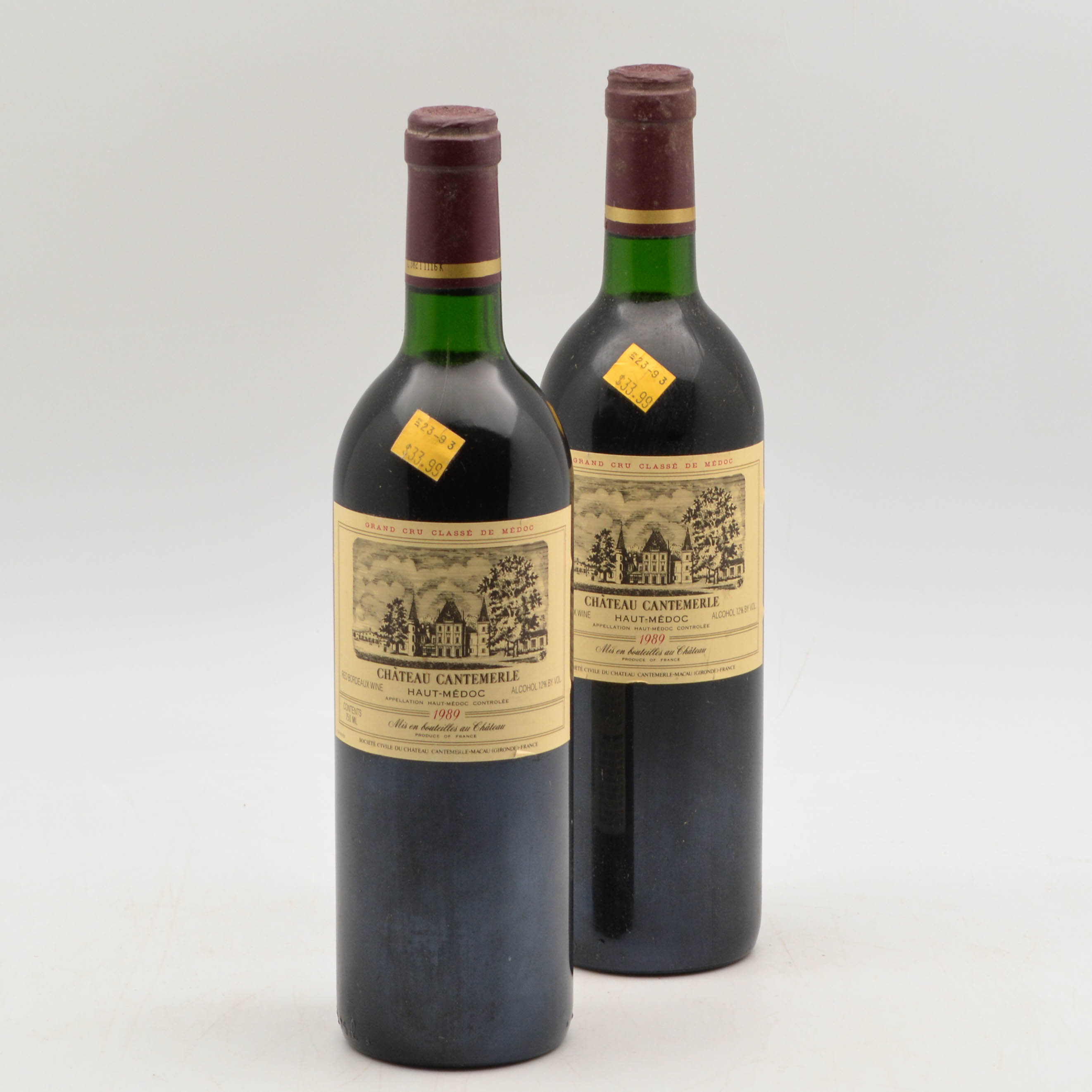 Chateau Cantemerle 1989, 2 bottles (Lot 1091, Estimate: $100-150)