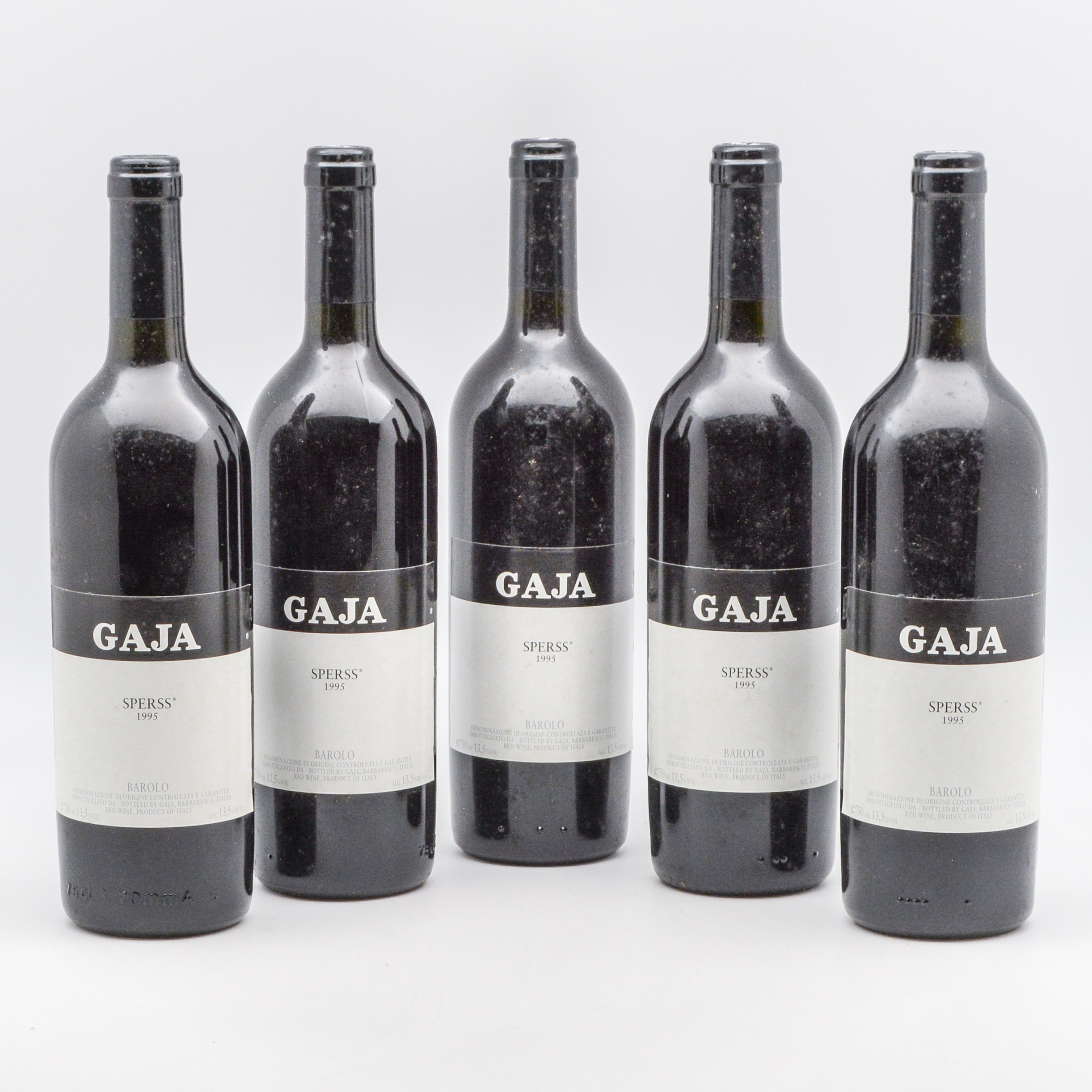 Gaja Sperss 1995, 5 bottles (Lot 1312, Estimate: $600-850)