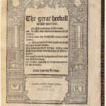 The Great Herball Newly Corrected, 1539 (Lot 172, Estimate: $25,000-35,000)
