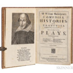 William Shakespeare, Fourth Folio, 1685 (Lot 161, Estimate: $65,000-80,000)