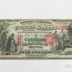 1875 Colorado National Bank of Denver $5 Note, PMG Very Fine 20 (Lot 1393, Estimate: $6,000-8,000)