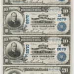 1902 The First National Bank of Chicago Date Back Uncut Sheet (Lot 1398, Estimate: $3,000-5,000)
