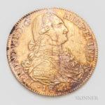 1811/0 Columbian Santa Fe de Nuevo Reino Mint 8 Escudos (Lot 1264, Estimate: $1,000-1,200)
