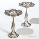 Pair of Art Nouveau Sterling Silver Weighted Compotes (Lot 1244, Estimate: $200-250)
