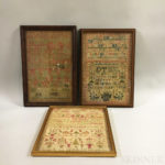 Three Framed Samplers (Lot 1288, Estimate $300-500)