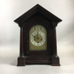 Junghans for Tiffany & Co. Mahogany-cased Shelf Clock (Lot 1373, Estimate $300-500)