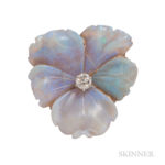 Antique Carved Opal Pansy Brooch, Tiffany & Co. (Lot 30, Estimate: $800-1,200)