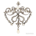 Antique Diamond Brooch, France (Lot 1024, Estimate: $400-600)