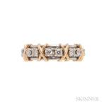 18kt Gold, Platinum, and Diamond Band, Schlumberger for Tiffany & Co. (Lot 1196, Estimate: $2,000-3,000)