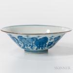Blue and White Bowl, China, Kangxi period (Lot 123, Estimate: $3,000-5,000)