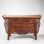 Huanghuali Two-drawer Coffer Table (Lot 563, Estimate: $10,000-15,000)