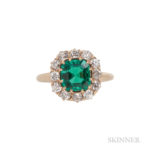 Antique Colombian Emerald and Diamond Ring (Lot 52, Estimate: $5,000-7,000)