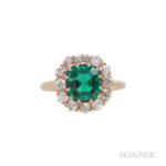 Antique Colombian Emerald and Diamond Ring (Lot 52, Estimate: $5,000-7,000)