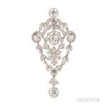 Edwardian Platinum and Diamond Pendant (Lot 55, Estimate: $10,000-12,000)