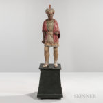 Carved and Painted Tobacconist Figure, Julius Theodore Melchers, c. 1860 (Lot 454, Estimate: $20,000-$30,000)