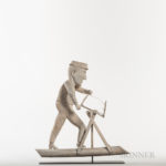 Carved and White-painted Woodsman Weathervane, early 20th century (Lot 451, Estimate: $4,000-$6,000)