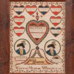 Watercolor Lipe-Lambert Family Record, William Murray, Vermont, 1806 (Lot 278, Estimate: $6,000-$8,000)