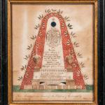 Watercolor Memorial for Hannah Gott, William Saville, Gloucester, Massachusetts, 1800 (Lot 338,Estimate: $3,000-$5,000)