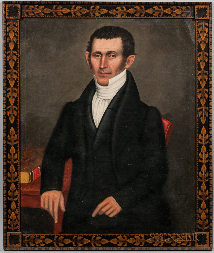 Erastus Salisbury Field (Massachusetts/New York, c. 1805-1900) Portrait of Deacon Harlow Pease (Lot 349, Estimate: $15,000-$25,000)