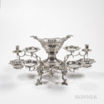 George III Sterling Silver Six-Arm Epergne (Lot 4, Estimate: $4,000-6,000)